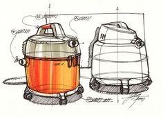 Sketch of shop vacs by designer Spencer Nugent