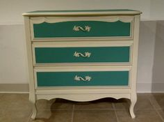 Vintage French Provincial Dresser painted using AS Old White and Florence