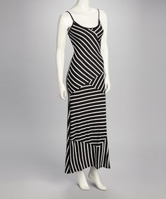 Take a look at this Black Diagonal Stripe Maxi Dress by Fashionomics on #zulily today!$29.99, regular 70.00