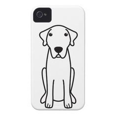 Anatolian Shepherd Dog Cartoon iPhone 4 Case-Mate Case