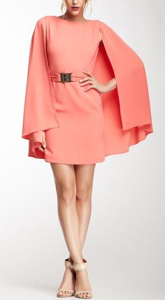 Cape Dress- this is actually really classy looking! And I love the color! I'd rock it