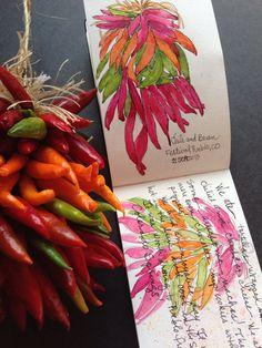 Watercolor travel journal, Tisha Sheldon