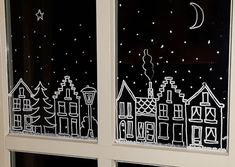 My daughter took one for me and I had to … – Happy Christmas Christmas Drawing, Christmas Art, Simple Christmas, Winter Christmas, Christmas Ornaments, Christmas Window Display, Christmas Window Decorations, Christmas Chalkboard Art, Window Art