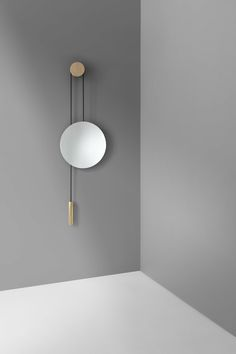 Rise & Shine mirror, Hunting & Naraud - oak and brass, counterbalanced and adjustable 400 euros