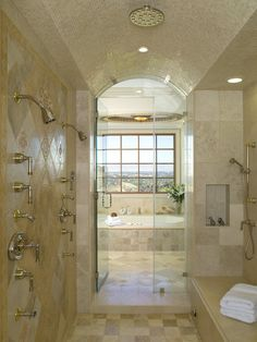 Ceramic Tile on the Ceiling: Yes or No? >> http://www.diynetwork.com/bathroom/matt-muensters-8-crazy-bathroom-remodeling-ideas/pictures/index.html?soc=pinterest#