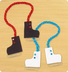 Paper Clip Ice-Skate Magnets