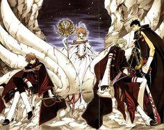 sakura and the boys Wallpaper from Tsubasa Reservoir Chronicles. main characters of Tsubasa Reservoir Chronicles Syaoran, Cardcaptor Sakura, Anime Fanfiction, Xxxholic, Sailor Moon Character, Card Captor, Manga Artist, Anime Screenshots, Manga Games