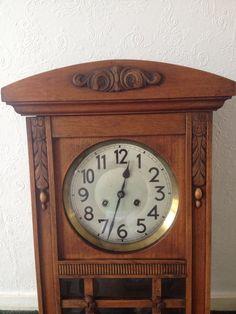 1930s Junghans Oak WALL CLOCK Chiming • £90.00 - PicClick UK