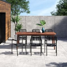 Modern Outdoor Dining Sets, Outdoor Tables, Outdoor Furniture Sets, Outdoor Decor, Patio Tables, Deck Furniture, Outdoor Seating, Modern Furniture, Outdoor Living