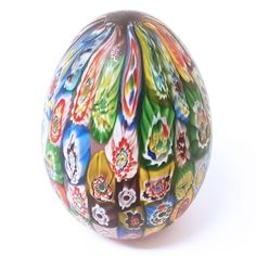 Vintage MURANO ITALY PAPERWEIGHT EGG Tight Packed Millefiori Art Glass 1970s | Pottery & Glass, Glass, Art Glass | eBay!