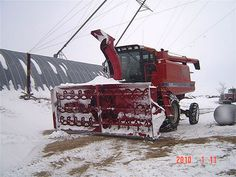 Combine Snowblower | Front View Case IH 1660 Combine Snow Blower | Flickr - Photo Sharing!