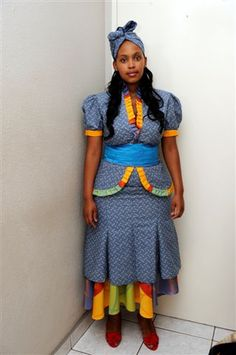 shweshwe dresses for plus size 2016 Queen Wedding Dress, Queen Dress, Wedding Dress Trends, Wedding Dresses, Wedding Ideas, African Wear, African Women, African Dress, African Tribes
