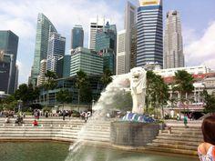 シンガポールといえばマーライオン!