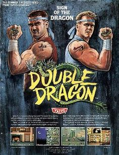 The Arcade Flyer Archive - Video Game Flyers: Double Dragon, Taito Vintage Video Games, Classic Video Games, Retro Video Games, Video Game Art, Retro Games, Games Box, Old Games, Arcade Games, Pinball Games