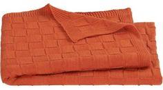Knit Burnt Orange Throw - modern - throws - by CB2