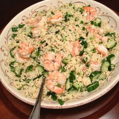 Roasted shrimp and orzo pasta salad...that's what's for dinner! Thank you Barefoot Contessa!