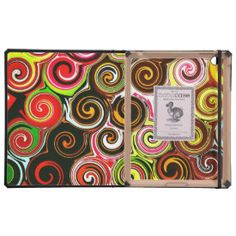 Swirl Me Pretty Colorful Swirls Pattern Covers For iPad