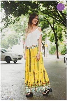 O que dizer dessa saia longa? Linda DEMAIS!!! <3 #Vemprazas