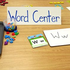 INSTRUCTION: This word centre is effective as it provides students with a variety of manipulatives to work with letters and letter-sounds, which helps students access the learning in multiple ways (RR, 2011). Students can work with magnetic letters, white boards and white board markers, letter books, letter tiles, and magnetic high-frequency words. They can use these materials to create words using picture cards, letter tiles, or magnetic letters.