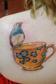 :: teacup & friend :: such beautiful depth to the colors. ::
