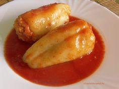 A töltött paprika napközis, menzás változata a paradicsomos húsgombóc, amit annak idején csak PHG-ként emlegettünk. A kettő közötti különbséget Hungarian Recipes, What To Cook, Food 52, Thing 1, Baked Potato, Cucumber, Sausage, Pork, Food And Drink