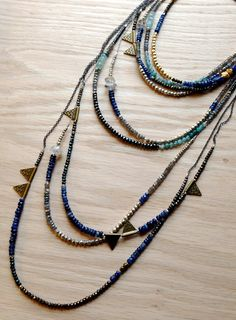 ∆∆∇∇ elementality | layering •TRIBE• necklaces by -hush-