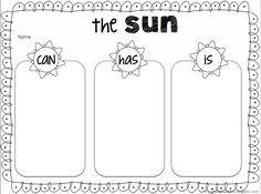 The Sun Fact Organizer FREEBIE...great activity before Summer Break!