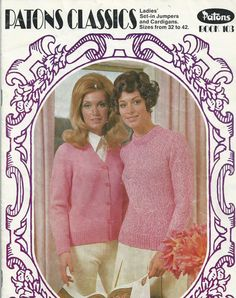 Vintage Patons Knitting Book - Women's Classics Book 103 - 1960s