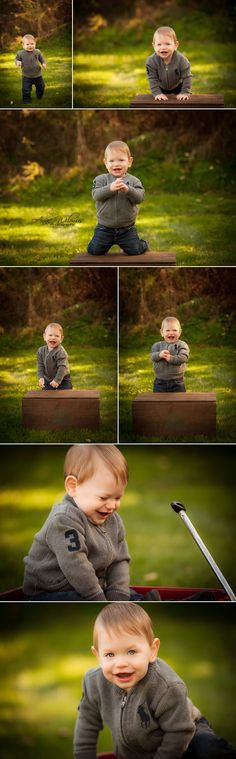 blog 2 outdoor on a crate and wagon smiley 1 year baby wexford baby photographer Anne Wilmus Photography 2 Happy Birthday, Grayson! Smiley b...