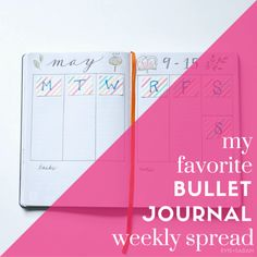 A complete How-To on my favorite Bullet Journal Weekly Spread, including a list of materials I prefer and lots of tips and tricks. Great for anyone thinking of trying Bullet Journaling or looking for a tried+true weekly spread!  EVIE+SARAH