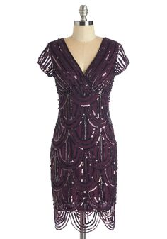 Flapper Inspired Sequined Dress in Plum www.MadamPaloozaEmporium.com www.facebook.com/MadamPalooza