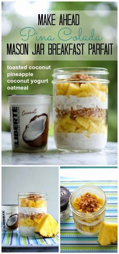 The Two Bite Club: 5 Make-Ahead Mason Jar Breakfast Parfait Recipes {with Publix Liberté Yogurt + Cash Giveaway} Mason Jar Breakfast, Mason Jar Lunch, Mason Jar Meals, Meals In A Jar, Mason Jars, Breakfast Parfait, Parfait Recipes, Parfait Recipe Healthy, Cooking Recipes