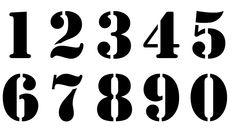 Nombre 20 cm. Numéro. Chiffre. Pochoir en vinyle adhésif. (ref 231-6)