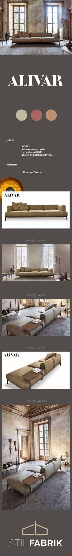 Stil Konzept ## SWING ALIVAR Anbausofa Aus Leder Design By Giuseppe Bavuso #
