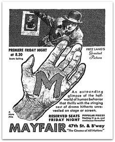 M, 1933. Fritz Lang, Peter Lorre