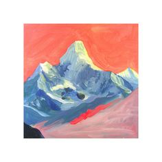 Technicolor Mt Everest by June Chang for Minted