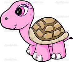 pinterest turtle girls bedroom   taai schildpad dier wildlife vector illustratie kunstpembe kız ...
