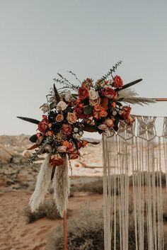 Boho Elopement with Macrame Wedding Arch Florals by Cultivate Goods, Las Vegas Florist Fall Wedding Colors, Floral Wedding, Fall Wedding Arches, Autumn Wedding, Winter Bouquet, Wedding Ceremony, Wedding Backdrops, Ceremony Backdrop, Wedding Rings