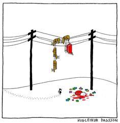Top 25 des strips d'Hugleikur Dagsson, le mauvais goût dessiné à la va-vite