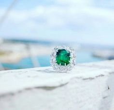 Emerald ring from Chopards Green Carpet Collection.