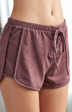 Fleece Lace-Up Jogger Shorts
