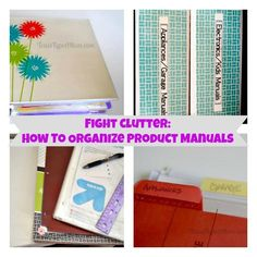How to Organize Product Manuals #organization
