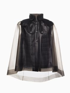 TerraNewYork — Water Resistant Winter Cape With Removable Wool Lining