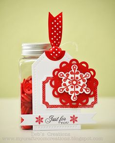 cute tag with snowflake