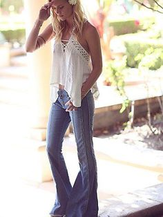 Free People Run Around Top. 70s inspiration Fashion. Summer Trends.