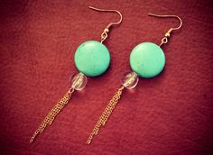 Turquoise and Chain Earrings  $9 from Etsy.com/shop/shelbyjeancustoms
