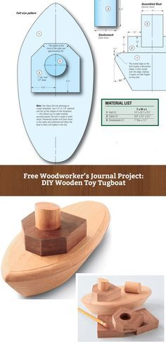 How to Build a Woode  How to Build a Wooden Toy Tugboat from Making the Hull to Building Above Deck