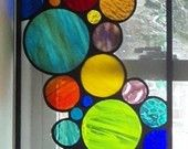 Stained Glass Panel - Bubbles and More Bubbles (P-5). $335.00, via Etsy.