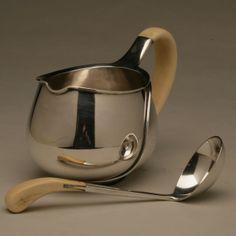 Gallery 925 - Franz Hingelberg Modernist Sauceboat with Spoon, designed by Svend Weihrauch