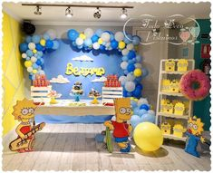 THE SIMPSONS PARTY The Simpsons Theme, Simpsons Party, Twin Birthday, 11th Birthday, Party Themes For Boys, Birthday Party Themes, Shower Party, Baby Shower Parties, Its My Bday